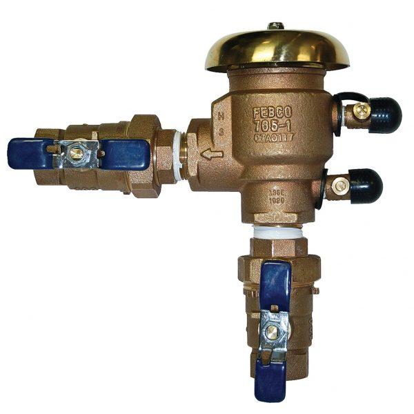 FEBCO 765 Pressure Vacuum Breaker 1 In. Bronze With Ball Valve